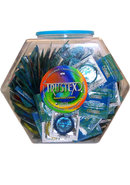 Trustex Lubricated Condoms Assorted Colors 288 Per Bowl